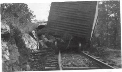 Train wreck, possibly in Indiana