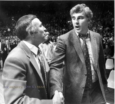 Image result for lou henson bob knight stealing