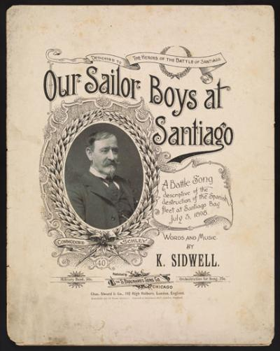 Our Sailor Boys at Santiago, cover
