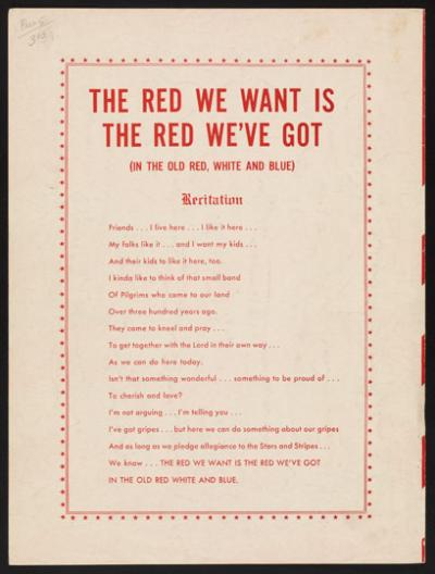 The Red We Want Is The Red We Got, page 3
